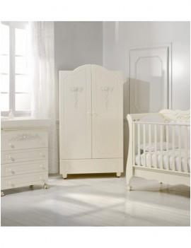 Комплект Baby Expert Amadeus: кровать, пеленальный комод, шкаф крем