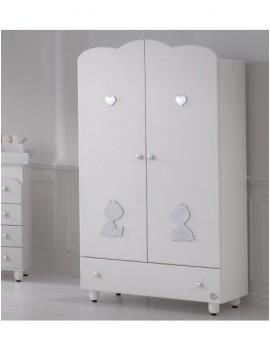 Шкаф Baby Expert Cuore di Mamma цвет белый/ платина