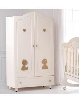Шкаф Baby Expert Cuore di Mamma крем/золото