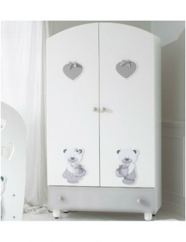 Шкаф Baby Expert Bon Bon двухцветный/серый