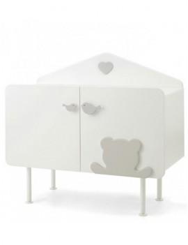 Комод Baby Expert Casetta бело-серый