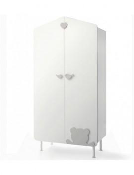 Шкаф Baby Expert Casetta бело-серый