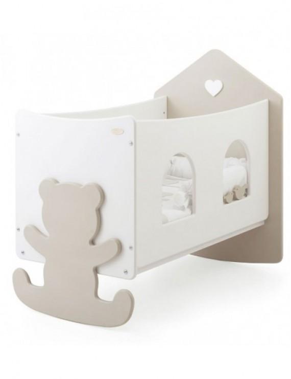 Детская кровать Baby Expert Casetta Top с окошками бело-кремовая