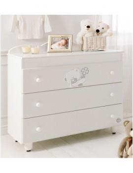 Комод Baby Expert Serenata с 3 ящиками белый