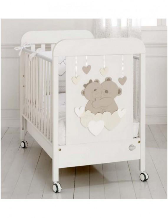 Детская кровать Tenerezze белая/светло-коричневый