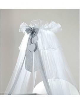 Балдахин для кровати Baby Expert Sogno белый/серый