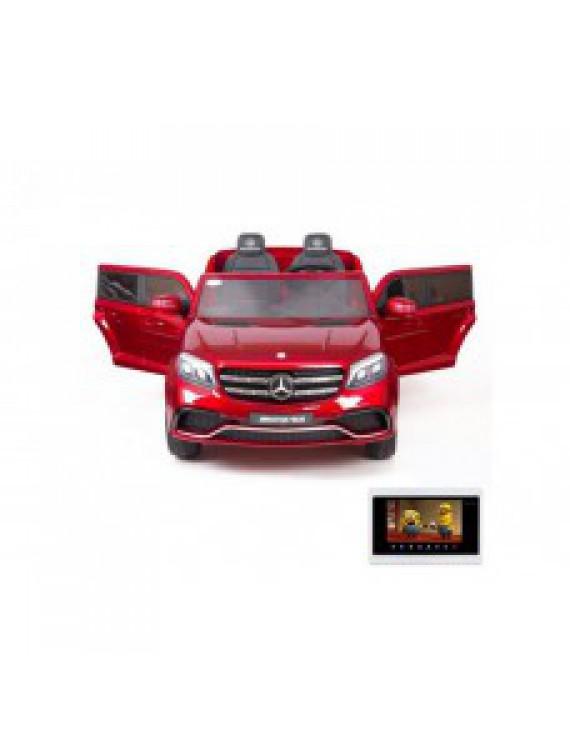 Детский электромобиль Mercedes Benz GLS63 LUXURY 4WD 12V MP4 - Red - HL228-LUX-MP4