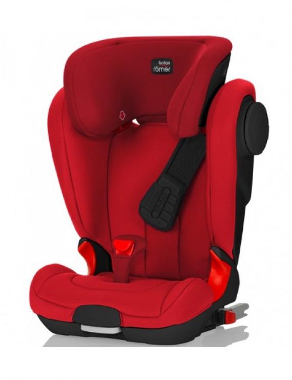 Детское автокресло Britax Roemer Kidfix II XP SICT (группа 2-3, от 15 до 36 кг) Black Series Flame Red